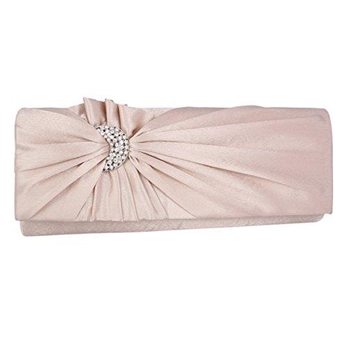 Seta Del Diamante Donna Frizione Di Blu Champagne Partito Elegante Scuro Adoptfade 7pItqw