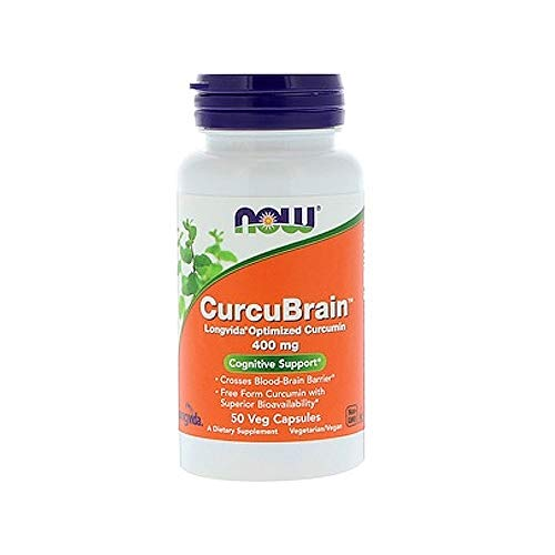 Best Now Foods Brain Memory Supplements - Now Supplements, CurcuBrainTM 400 mg with