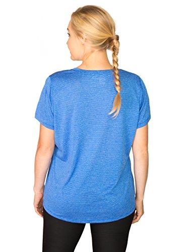 Rbx Active Women 39 S Plus Size Short Sleeve Heathered Stripe