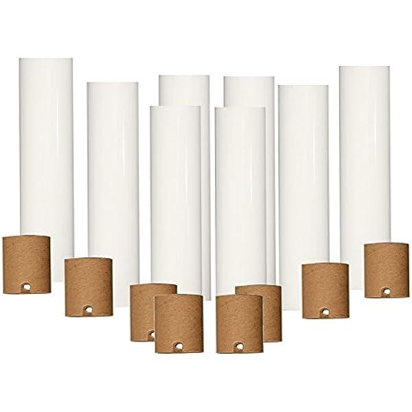 4 Tall Palomino Candelabra Base 3//4 Inner Diameter Beeswax Chandelier Socket Cover Sleeve Set of 6 pc
