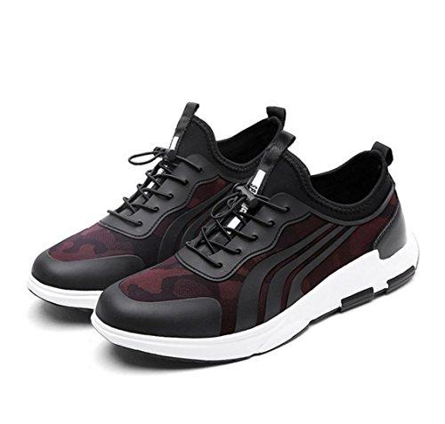 WZG Nuevos hombres zapatos casuales de la moda, calzado deportivo sandalias de los hombres respirables Red