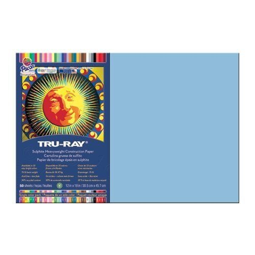 Tru Ray 12 X 18 Sky Blue 50 Sht by Pacon