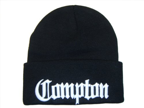 3D Embroidery City Compton Eazy E Los Angeles Beanie Cap Hat (One Size, (Eazy E Compton Hat)