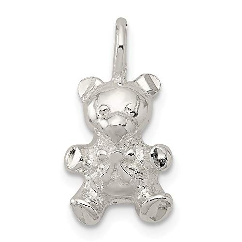 Jewelry Pendants & Charms Themed Charms Sterling Silver Teddy Bear Charm ()