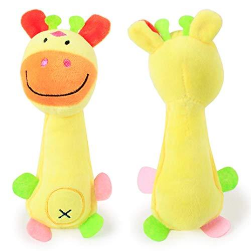 Toy Chew Squeaky Dog Toys, Plush Dog Pet Toy Pup Puppy Doggie Small Medium Dog, Christmas Dog Gift Soft Plush (B)