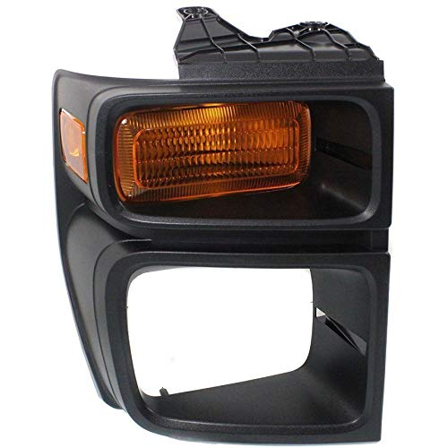 New Front Right Passenger Side Parking Light Lens For 2008-2016 Ford Econoline Van, Includes Bezel, With Sealed Beam Head Lights FO2525103 ()