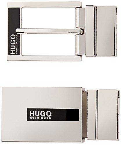 Hugo Hugo Boss Men's Gilb Reversible Leather Belt Gift Box Set, black, One - Designer Boss