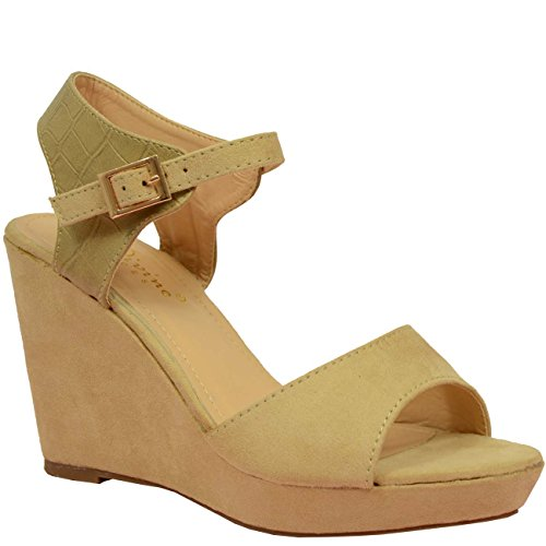 Cucu Fashion - Zapatos de tacón  mujer Beige - beige