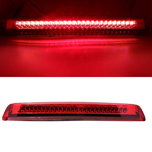 - High Mount Stop Tail Light, LED Third 3rd Brake Cargo Light Assembly Replacement for 2004-2015 Nissan Titan, 2005-2016 Nissan Frontier (Chrome Housing Red Lens)
