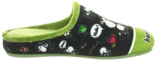 Sheepworld 320299 Unisex-Erwachsene Pantoffeln Grün (pistazie/schwarz 7)