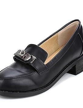 ShangYi Zapatos Mujer - Mocasines - Tempo Libero/vestir/Casual - Punta Cuadrada - Bajo - Piel Sintética - Negro/Dorado, negro: Amazon.es: Deportes y aire ...