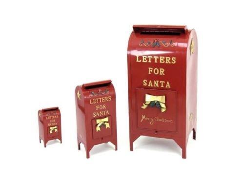TisYourSeason Life-Size Christmas Outdoor Santa Mailbox Iron Commercial Christmas Decoration Letters for Santa Mailbox Set of 3