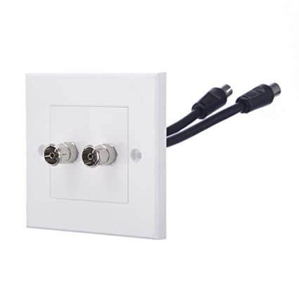 Computer Spares TV Aerial Faceplate/Wall Outlet - Suitable for