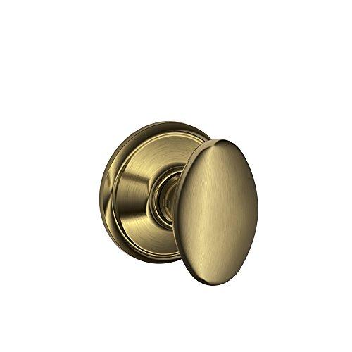 Schlage F10 SIE 609 16-080 10-027 Siena Hall and Closet covid 19 (Oval Knob Antique coronavirus)