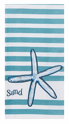 Kay Dee Designs Beach House Inspirations Starfish Applique Tea Towel