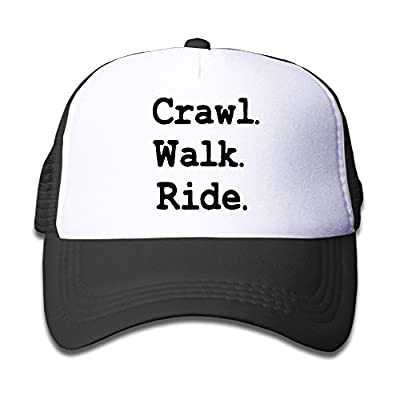 Youth Crawl Walk Ride Mesh Football Caps Black