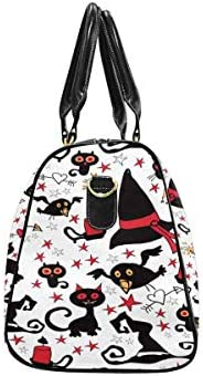 InterestPrint Weekender Bag Overnight Carry-on Tote Duffel Bag C at Halloween and Wizard Hat
