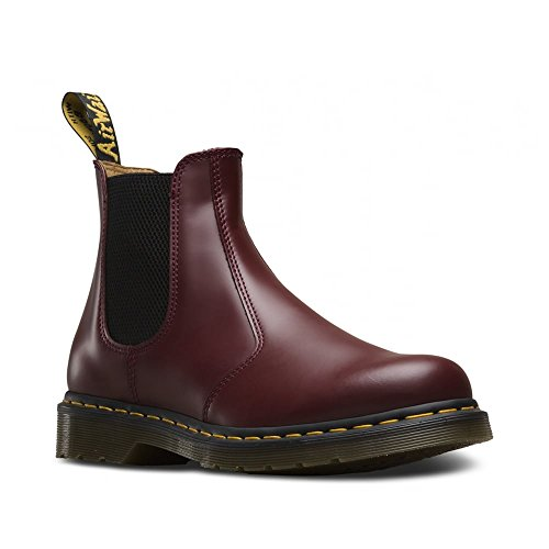 Dr.Martens 2976 Yellow Stitch Chelsea Boot Cherry Red Unisex High-Top Schuhe (Cherry Red)