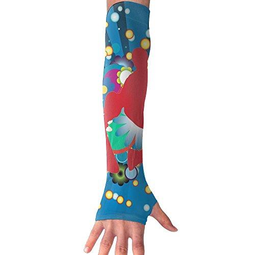 Fdvgfdgvfd Sports Parkour Skateboard Pattern Long Half Finger Unisex Sun Arm Protection Sleeve Outdoor Gloves]()