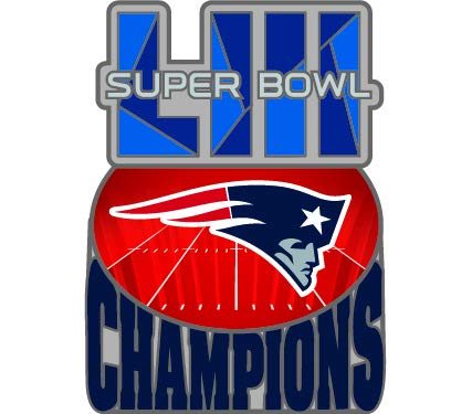(aminco Super Bowl LIII 53 New England Patriots Champions Commemorative Lapel Pin )