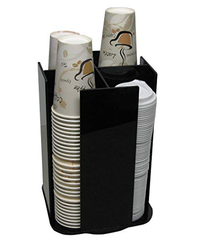 Coffee Cup Dispenser Lid Holder Beverage Station Organizer Spinning Caddy Organize your counter with style (1005LA) ()