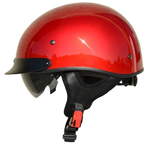 (Vega Helmets Unisex-Adult Half Helmet (Velocity Red, Small))