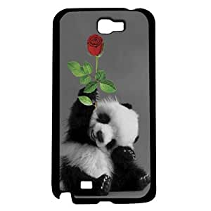 Adorable Smiling Baby Panda with Rose Hard Snap on Phone Case (Note 2 II)