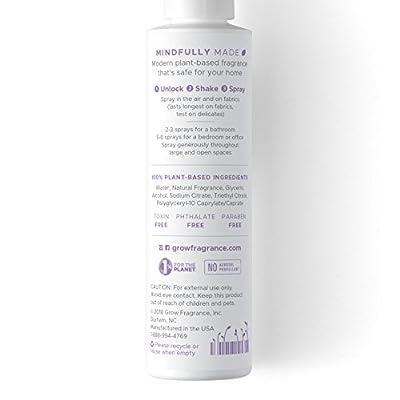Grow Fragrance 100% Plant-Based Air + Fabric Freshener, 5 oz Safe For Home - Over 500 Sprays!