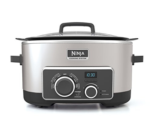 Ninja Multi-Cooker with 4-in-1 Stove Top, Oven, Steam & Slow Cooker Options, 6-Quart Nonstick Pot, and Steaming/Roasting Rack  (MC950ZSS), Stainless Review