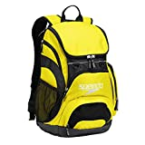 Speedo Printed Teamster 35L Backpack, Blazing Yellow/Black, 1SZ