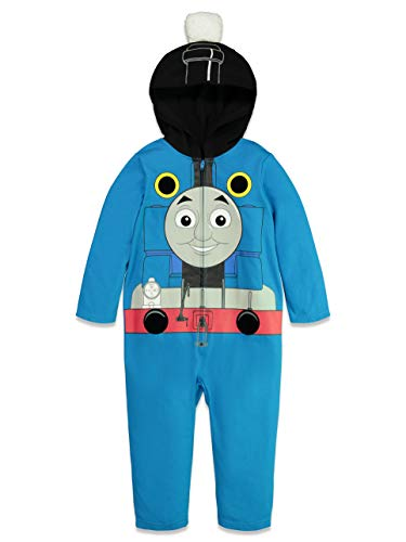 Thomas And Friends Costumes (Thomas & Friends Toddler Boys Costume Zip-Up Coverall with Hood)