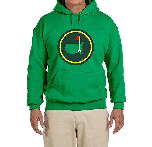 Deetz Shirts Green Green Jacket Patch Hooded Sweatshirt Adult X-Large (Master Adult Sweatshirt)