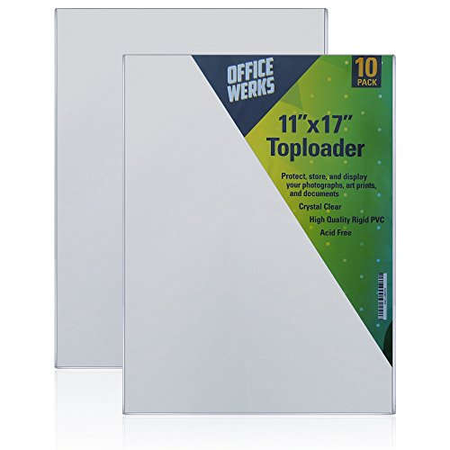 11 X 17 Toploader - Protect, Store and Display 11X17 Photographs, Prints and Documents (Pack of 10)