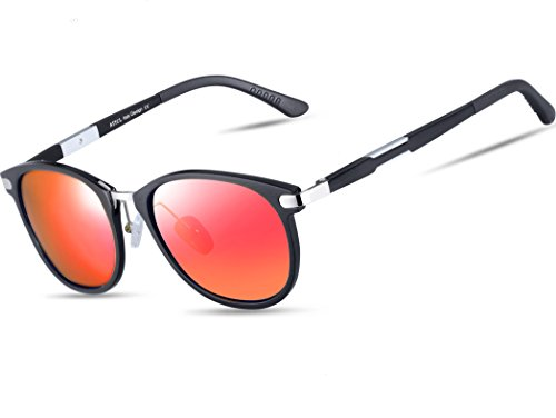 ATTCL Unisex Retro Metal Frame Driving Polarized Aviator Sunglasses For Men Women - Stylish Men Sunglasses For
