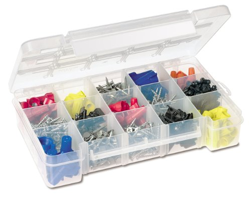 Akro-Mils 5705 Plastic Parts Storage Case for Hardware and Craft, Small, Clear - Small Parts Bin