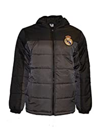 Real Madrid Fc Jacket Youth Soccer Light Down Padded Zip up Hoodie