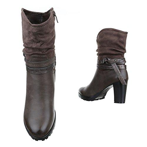 femme Design cowboy et bottines Ital Bottes HwaAFqaTZx