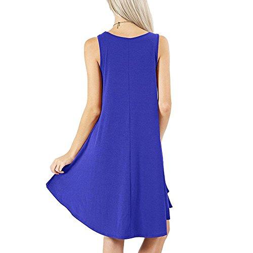 Mujer Casual sin para Mujer Mini ncaje Vestido Vestidos Kinlene Mangas Mujer Vestidos Encaje de Azul de Vestido Casual Fiesta Sexy Suelto nq6gFx84wx