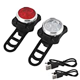 Liraly Cycling Bicycle Bike 3 LED Head Front Rear USB Rechargeable Tail Clip Light Lamp