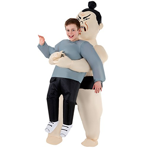 Morph MCKPISW Boys Pick Me Up Inflatable Sumo Kids Costume, One Size]()