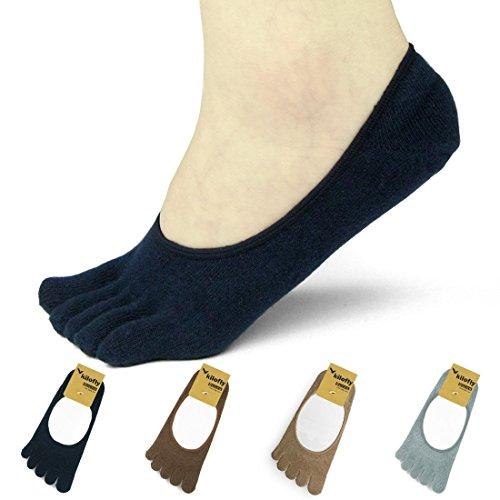 Kilofly Women's Low Cut No Show Full Toe Socks Value Pack [Set of 4 Pairs]