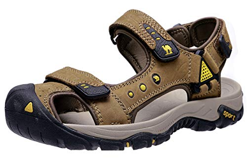 8284d7bc9c091 CAMEL CROWN Men's Waterproof Hiking Sandals Closed Toe Water Shoes Athletic  Sport Sandals for Men Outdoor Beach