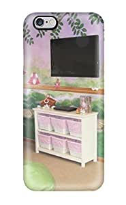 Amberlyn Bradshaw Farley's Shop New Style 7246211K77234144 Iphone 6 Plus Case Cover Fairy Garden Girls Playroom With Fairy Mural And Pink And Green Beanbag Chairs Case - Eco-friendly Packaging