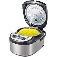 Zoinada Good Quality Rice Cooker 8 -Cup 8-in-1 Programmable Multi-use Rice Cooker, Slow Cooker, Steamer, Mixed Grains,Claypot Rice ,Stew,Pasta,Soup,Stainless Steel Silver
