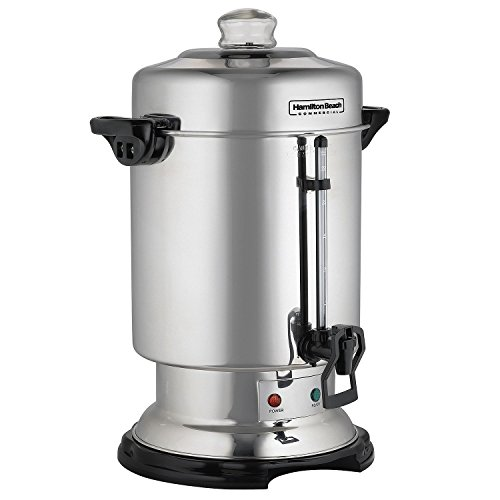 Hamilton Beach D50065 Commercial 60-Cup Stainless-Steel Coffee Urn, Silver (Tea Urn)