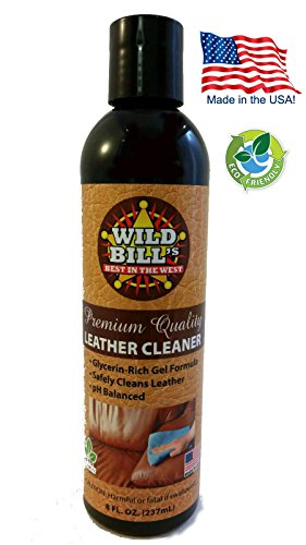 Wild Bill's Leather Cleaner for Cars, Furniture, Boots, Jackets, Shoes, Saddles, Purses, Golf Bags, Clothing & More, 8 oz