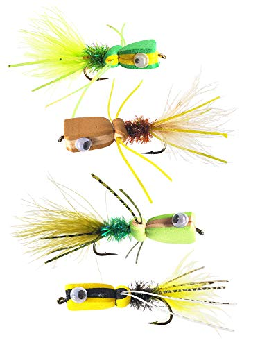 - The Fly Crate Bass & Panfish Popper Assortment | 4 Pack