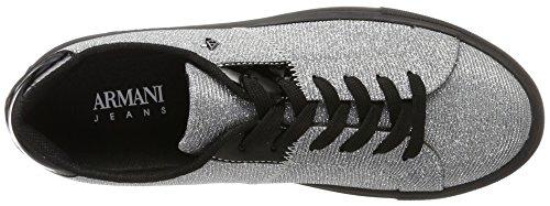 Bassa Jeans Sneaker Donne D'argento Armani argento Delle H0qwZqp