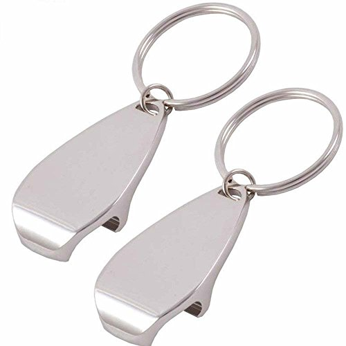 Kingsdun Bottle Opener KeyChain Small Cool Bottle Opener Ring for Women and Men, 2 Pack
