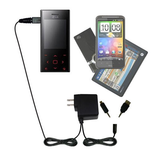 (Gomadic Multi Port AC Home Wall Charger designed for the LG Chocolate BL42 - Uses TipExchange to charge up to two devices at once)